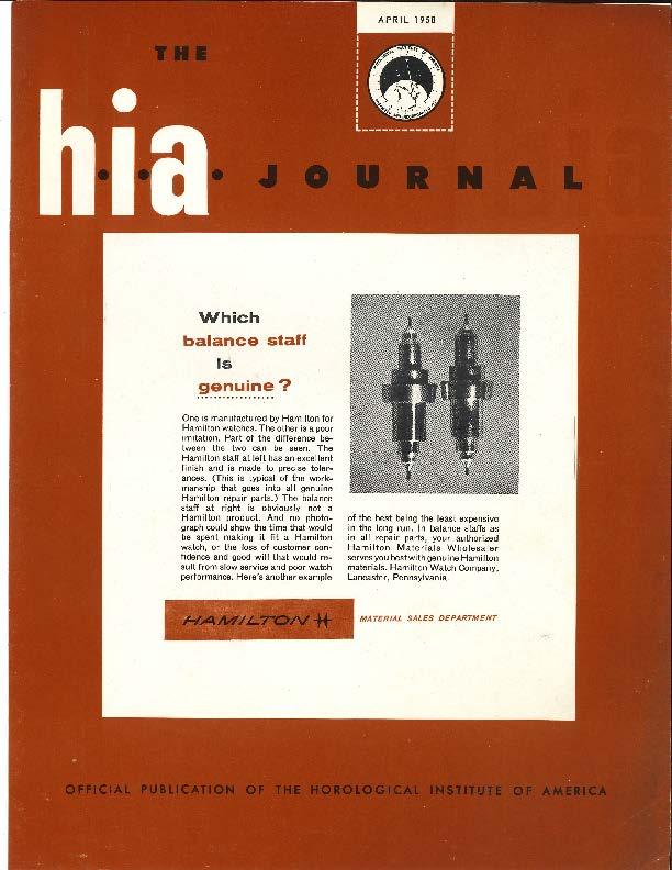 April 1958 HIA Journal