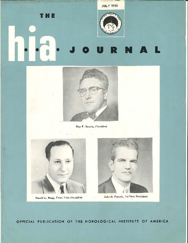 July 1958 HIA Journal