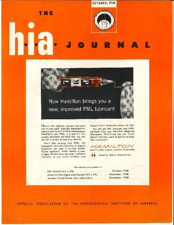October 1958 HIA Journal