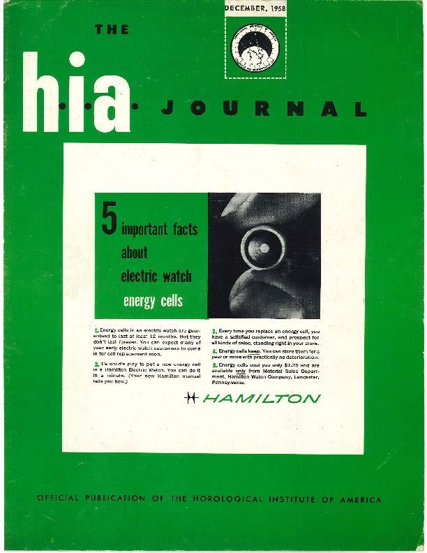December 1958 HIA Journal