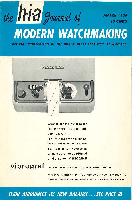 March 1959 HIA Journal