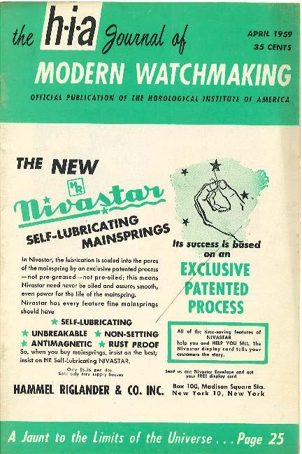 April 1959 HIA Journal