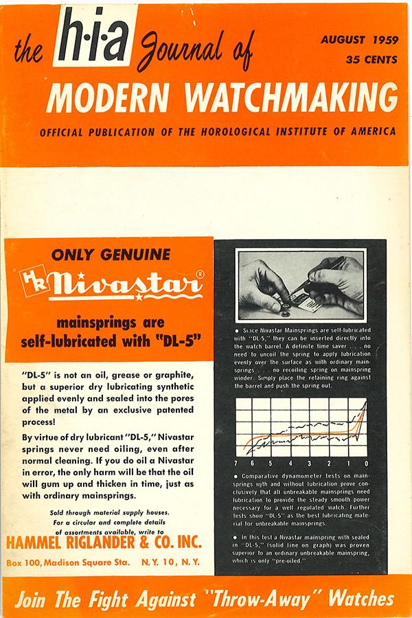 August 1959 HIA Journal